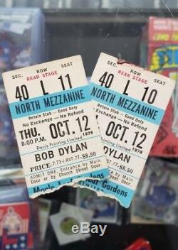 (2) 1978 BOB DYLAN Toronto Maple Leaf Gardens Concert Ticket Stubs