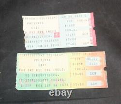 2 KISS Concert Ticket Stubs 1978-79 Cincinnati OH Riverfront Coliseum