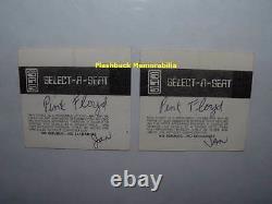 2 PINK FLOYD 1975 Concert Ticket Stub Lot TUCSON AZ Community Center MEGA RARE