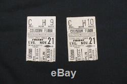 2 Rare Janis Joplin Concert Ticket Stubs 1969 Dane County Memorial Coliseum
