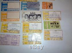 26 Vintage 1970 80 Concert Ticket Stubs Queen Led Zeppelin Pink Floyd Styx Rock