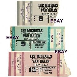 3 VAN HALEN Concert Ticket Stubs HOLLYWOOD CA APRIL 8 9 10 1977 WHISKY A GO GO