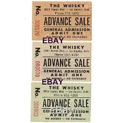 3 VAN HALEN Concert Ticket Stubs HOLLYWOOD CA MAY 27 28 29 1977 WHISKY A GO GO