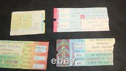 4 Black Sabbath Ozzy Osbourne Concert Ticket Stubs 1978-82