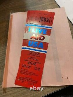 4 Live Aid USA FULL Concert Tickets. Plus Two Stubs