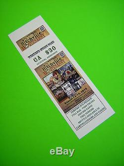 500 custom printed tickets event concert raffle full color