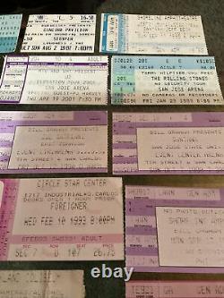 90s Rock Concert Ticket Stubs Lot of 29 Van Halen Kiss Iron Maiden Stryper