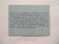 ALICE COOPER Original 1973 CONCERT TICKET STUB EX+