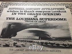 ALLMAN BROTHERS Concert Ticket Stub UNUSED August 31, 1975 LOUISIANA SUPERDOME