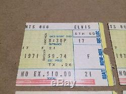 AUTHENTIC Elvis Presley 1971 Original Music Concert TICKET Stubs Cincinnati Ohio
