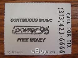 Authentic Rare Vintage Public Enemy Ice T Eazy E Nwa Epmd Concert Ticket Stub