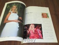 Abba JAPAN 1980 tour book + ORIGINAL concert OSAKA gig ticket stub + PROMO FLYER