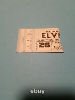 Authentic Ticket Stub Elvis Presley's Last Concert Indianapolis Indiana 6/26/77
