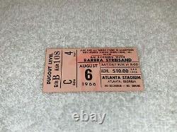 BARBRA STREISAND 1966 RARE USED CONCERT TICKET STUB Atlanta Stadium Georgia USA