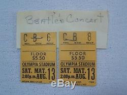 BEATLE'S Rare Historic 1966 OLYMPIA STADIUM Concert Ticket Stub Seat 8 Nice