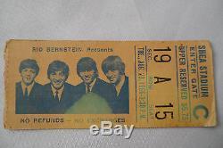 BEATLES 1966 Original CONCERT Ticket STUB Shea Stadium, NYC