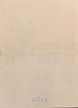 Beatles Concert Handbill Flyer/concert Ticket Stub-john Lennon, Paul Mccartney