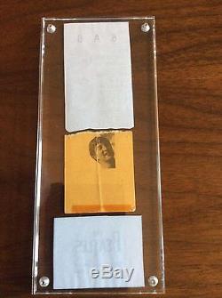 Beatles Historic Concert Ticket Stub 1964 Cleveland Concert Nice Display