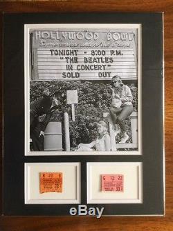 BEATLES HISTORIC CONCERT TICKET STUBS 1964-65 HOLLYWOOD BOWL Custom Matted PSA
