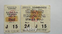 BEATLES Hammersmith Odeon Concert Ticket & STUB! Dec 1964. Rare