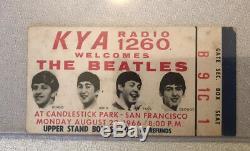 BEATLES LAST CONCERT Ticket Stub 1966 Candlestick Park RAREST DARK BLUE VERSION