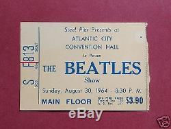 Beatles Original 1964 Concert Ticket Stub Atlantic City, Nj