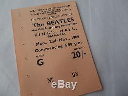 BEATLES Original 1964 CONCERT Ticket STUB Balmoral, UK