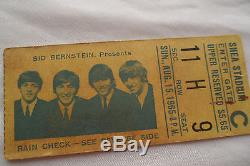 BEATLES Original 1965 CONCERT Ticket STUB Shea Stadium, NYC