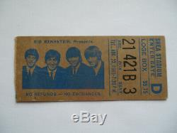 BEATLES Original 1966 CONCERT TICKET STUB Shea Stadium, NYC EX