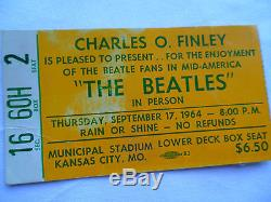 BEATLES Original CONCERT Ticket STUB Kansas City, MO