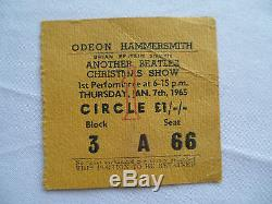 BEATLES Original CONCERT Ticket STUB Odeon Hammersmith, London