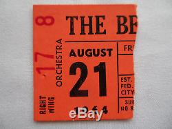 BEATLES Original CONCERT Ticket STUB Seattle