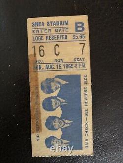 BEATLES Original Rare Aug. 15, 1965 CONCERT TICKET STUB Shea Stadium, NYC