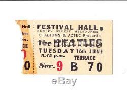 Beatles Ticket Stub Australian Tour Mebourne 2nd Concert 16th June 1964