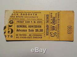 BLACK SABBATH Concert Ticket Stubs (2) & OZZY OSBOURNE Stub (1) 3 Total
