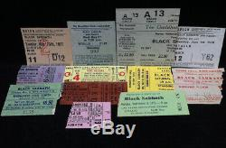 BLACK SABBATH Lot Of 12 Concert Ticket Stubs 1971-1978 UK & USA OZZY OSBOURNE