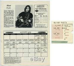 BLIND FAITH (Eric Clapton) Supremes Original 1969 Concert Handbill & Ticket Stub