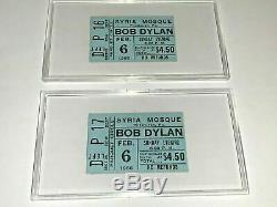 BOB DYLAN 2 RARE ORIGINAL 1966 CONCERT GIG TICKET STUBS SYRIA MOSQUE The Band b