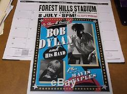 Bob Dylan Ny Forest Hills Stadium July 8th Concert Poster With Full Ticket Stub