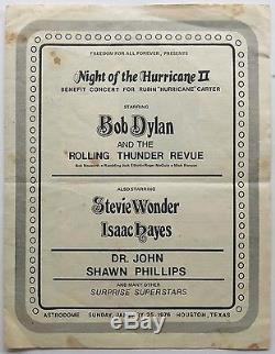 BOB DYLAN Night of The Hurricane TICKET STUB & CONCERT PROGRAM Astrodome Houston