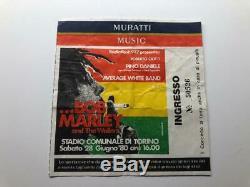 BOB MARLEY & THE WAILERS Concert Ticket Stub June 28, 1980 OLIMPICO TORINO ITALY