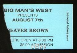 BRUCE SPRINGSTEEN Concert Ticket Stub 8-7-82 Clarence Clemons NJ Nightclub RARE