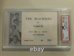 Beach Boys Rare 1966 Concert Full Ticket PSA 7 NM