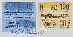 Beatles 1964 & 1965 BEATLES CONCERT TICKET STUBS FOR THEIR HISTORIC HOLLYWOOD