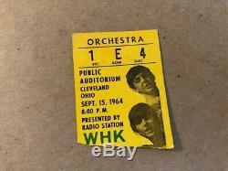 Beatles 1964 concert original ticket stub Cleveland OH