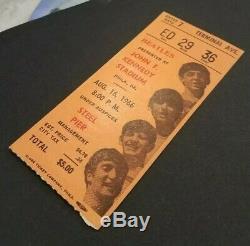 Beatles 1966 JFK STADIUM PHILADELPHIA CONCERT TICKET STUB Scarce Orange STADIUM