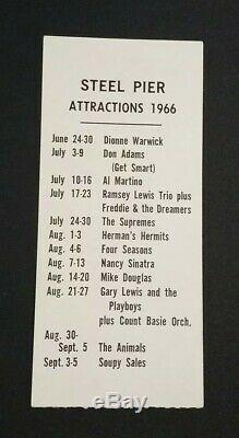 Beatles 1966 JFK STADIUM PHILADELPHIA CONCERT TICKET STUB Scarce White STADIUM
