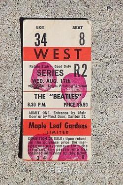 Beatles 1966 Toronto Concert Ticket Stub John Lennon Pictured