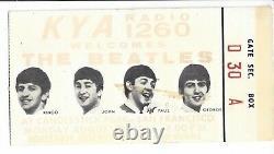 Beatles August 29, 1966 Last Concert Ticket Stub Candlestick Park San Francisco