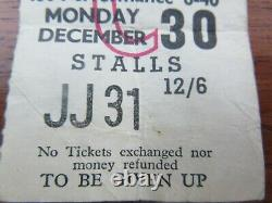 Beatles Concert Ticket Stub Finsbury Park Astoria Christmas Show 30 Dec 1963